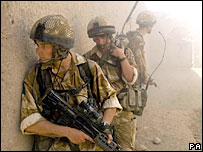 British troops in Musa Qala, Afghanistan