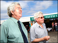 Rhodri Morgan and Prof Prys Morgan