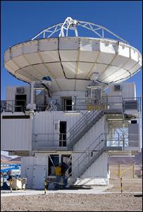 "Apex ""pathfinder"" telescope (Image: Eso)"