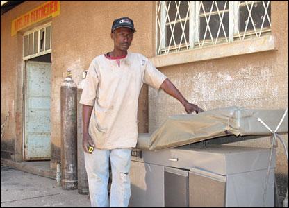 Mechanic Jacques Kabeya