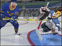 Screenshot from NHL Hockey 2005, EA