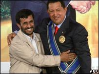 Iranian President Ahmadinejad and Venezuelan President Chavez