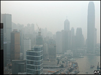 Smog in Hong Kong in September 2004