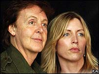 Paul and Heather Mills McCartney, pictured in 2005