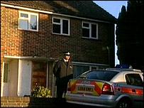 Outside house in Walton Green, New Addington