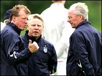 Steve McClaren, Sammy Lee and Sven-Goran Eriksson