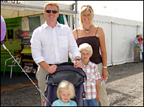 Owain and Michelle Davies with Ffion and Aron