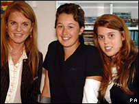 Princess Beatrice (right)