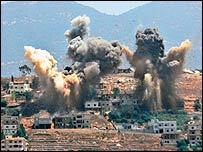 Khiam, Lebanon after Israeli air strikes 8 August 2006