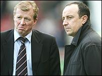 Steve McClaren and Rafa Benitez