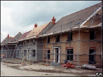 Homes built on brownfield site