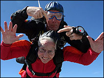 Mary Armstrong and instructor Clem Quinn