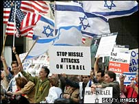 Pro-Israel demonstration in San Francisco, July 13, 2006