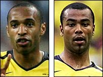 Thierry Henry (left) and Ashley Cole