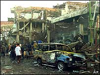 Aftermath of bombing