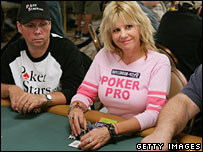 Poker player Cyndy Violette