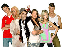 Big Brother finalists Glyn, Aisleyne, Pete, Jennie, Nikki and Richard