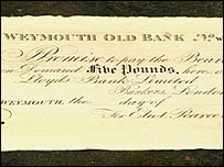 Weymouth Bank and Portland Bank note