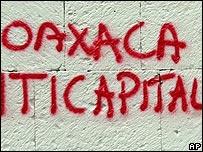 Graffiti en Oaxaca