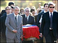 The funeral of former Paraguayan ruler Gen Alfredo Stroessner in Brasilia, Brazil