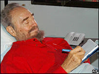 Fidel Castro in hospital bed