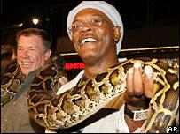 Samuel L Jackson with a python