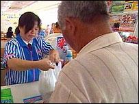Inside the Lawsons supermarket at Yamagata