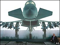 Image of Eurofighter seen from the front