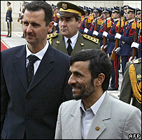 President of Syria and Iran, Bashar al-Assad and Mahmoud Ahmadinejad