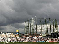 Rain clouds at The Oval