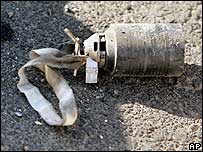 Unexploded cluster bomblet