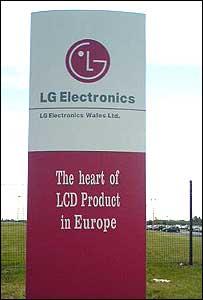 LG Electronics sign