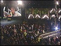 Live broadcast in Blaenau Ffestiniog (Pic: S4C/Tinopolis)