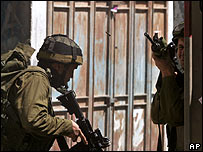 Israeli troops in the West Bank this week