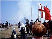 Pendennis Castle Civil War re-enactment: Picture English Heritage