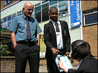 Boys from Forest Hill School in London interview their head teacher Peter Walsh