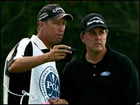 Jim McKay and Phil Mickelson