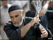 Shia pilgrim in Baghdad