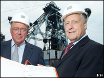 Powerfuel's Richard Budge and Joy Mining chairman David Johnson