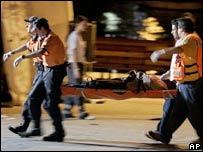 Migrant carried on a stretcher in the Canary Islands