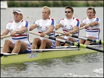 The GB crew of Andy Hodge, Alex Partridge, Peter Reed and Steve Williams