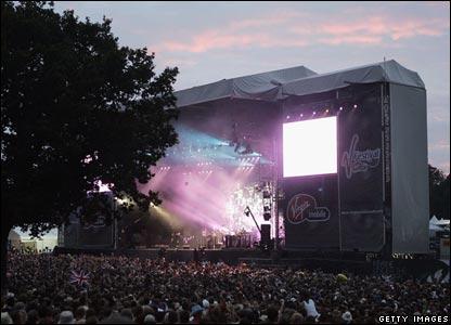 The V Festival stage