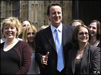 David Cameron and Conservative Party councillors