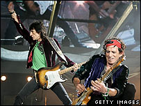 Ron Wood and Keith Richards
