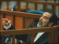 El ex presidente iraquí Sadam Hussein.