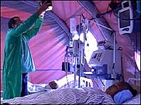 Hospital de campo en Java