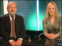 Sir Alan Sugar and Michelle Dewberry
