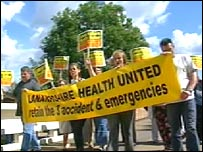 Lanarkshire Health United protestors