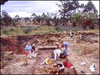 Excavations at the fort