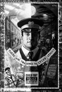 Poster used in drive for more Police Community Support Officers